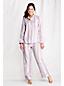 Le Haut de Pyjama en Flanelle à Motifs Femme, Taille Standard
