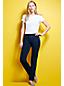 Indigofarbene Jersey-Schlupfhose im Jeans-Look für Damen in Petite-Größe