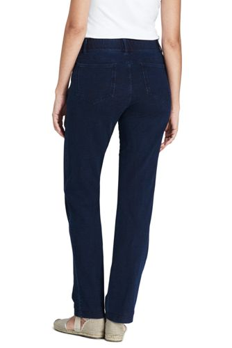 Womens Starfish Jean-style Refined Stretch Indigo Jersey Straight-leg Trousers - 8 - BLUE Lands End Recommend Cheapest Sale Online 42ktUd