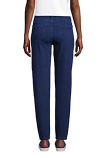 Women's Tall Starfish Elastic Waist Knit Jeans Straight Leg Mid Rise, Back