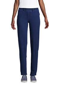 Women's Tall Starfish Elastic Waist Knit Jeans Straight Leg Mid Rise