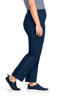 Women's Plus Size Starfish Elastic Waist Knit Jeans Straight Leg Mid Rise, Unknown
