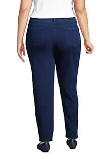 Women's Plus Size Starfish Elastic Waist Knit Jeans Straight Leg Mid Rise, Back