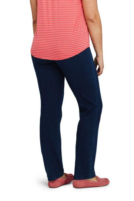 Women's Plus Size Starfish Elastic Waist Knit Jeans Straight Leg Mid Rise
