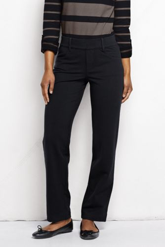 Women's Starfish Jean-style Refined Stretch Jersey Straight-leg Trousers