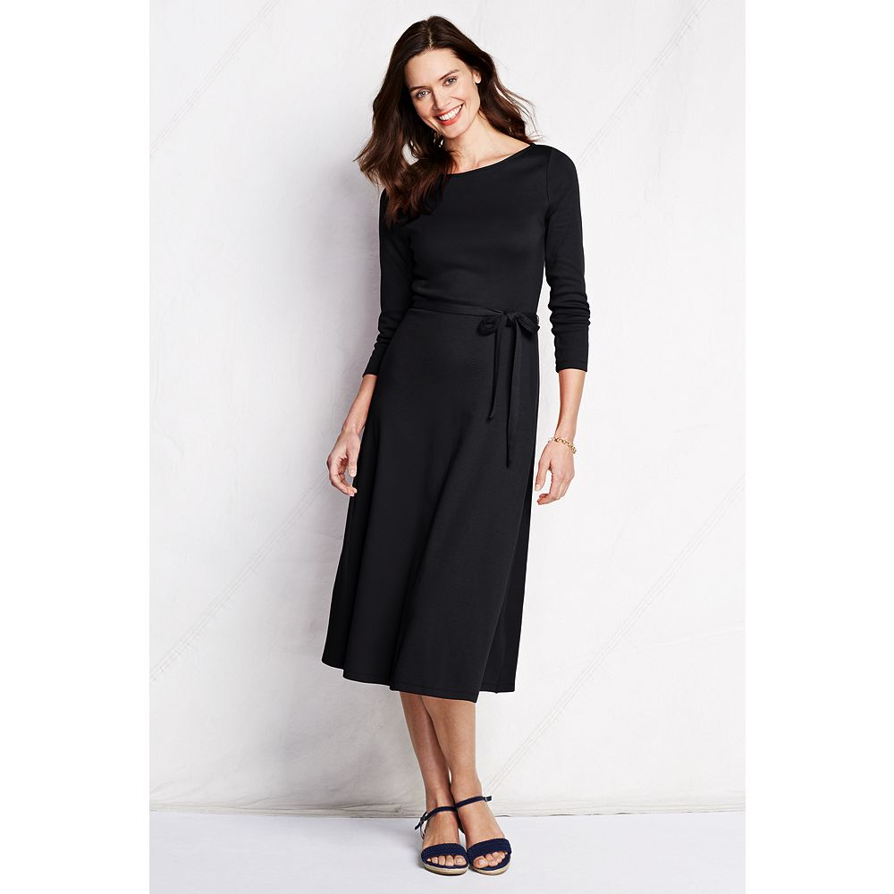 Lands' End Women's Petite 3/4-sleeve Sport Knit Dress at Sears.com