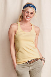 Women's Cotton Modal Rib Racerback Stripe Tank
