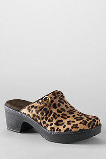 Women's Carly Leopard Print Clogs