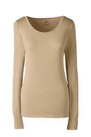 Women's Plus Size Base Layer Long Underwear Thermaskin Heat Scoopneck