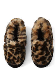 Girls Furry Moc Slippers