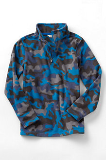 Boys' Camo Print Thermacheck® 100 Half-Zip Fleece Pullover