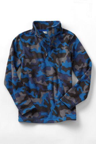 Little Boys' Camo Print Thermacheck® 100 Half-Zip Fleece Pullover