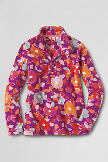 Girls' Print Thermacheck® 100 Half-Zip Fleece Pullover