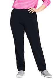 Women's Plus Size Starfish Elastic Waist Knit Jeans Mid Rise