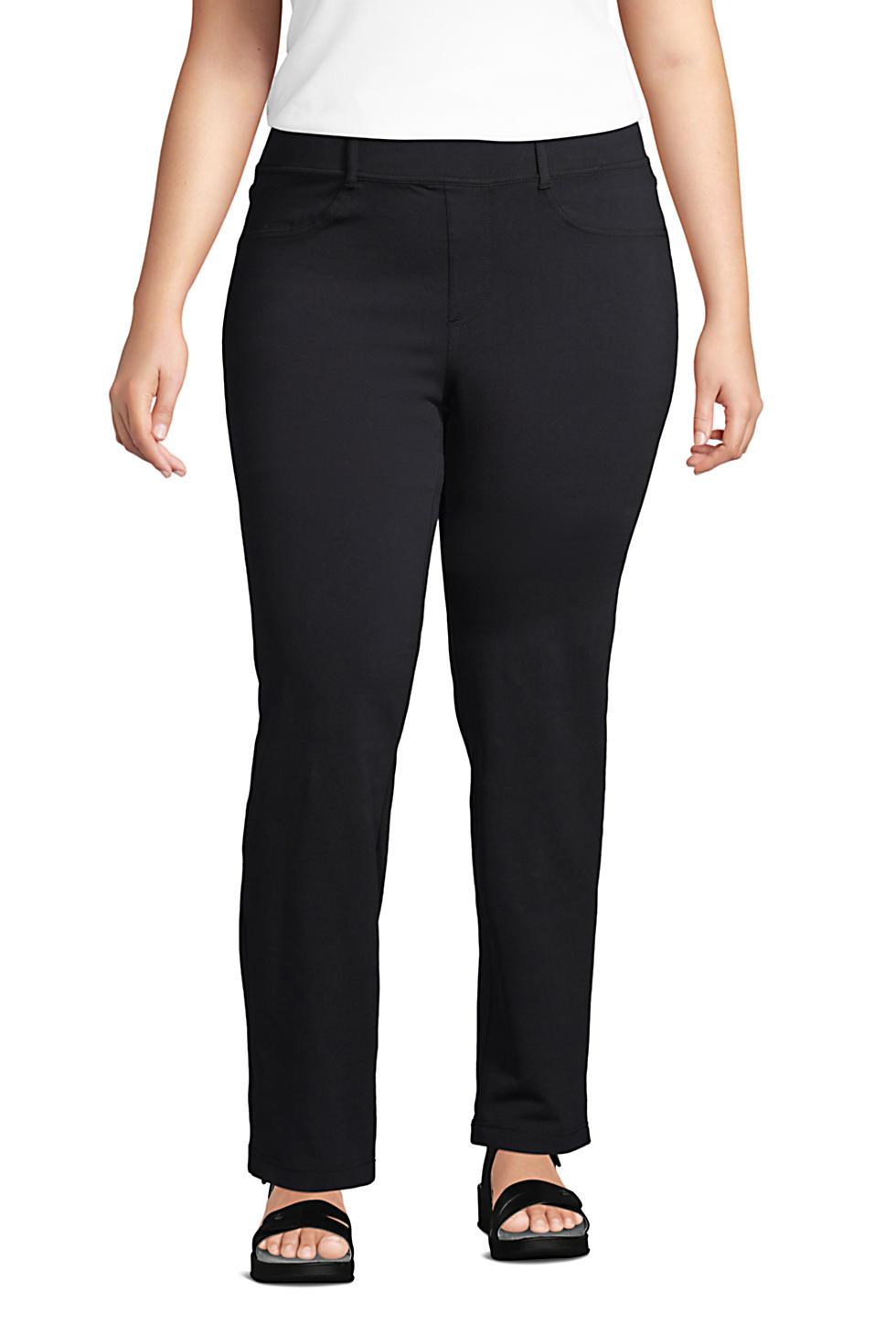 Lands End Women's Plus Size Starfish Elastic Waist Knit Jeans