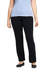 1378c7b85b65c Women s Plus Size Starfish Elastic Waist Knit Jeans Mid Rise