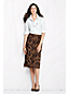 Women's Regular Patterned Ponte Jersey A-line Skirt