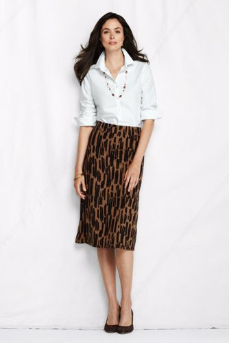 Women's Regular Pattern Drapey Ponté A-line Skirt - Toasted Peanut Print, S