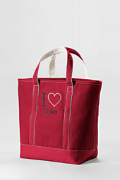 Large Color I Heart Open Top Tote