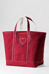 Extra Large Color I Heart Open Top Tote