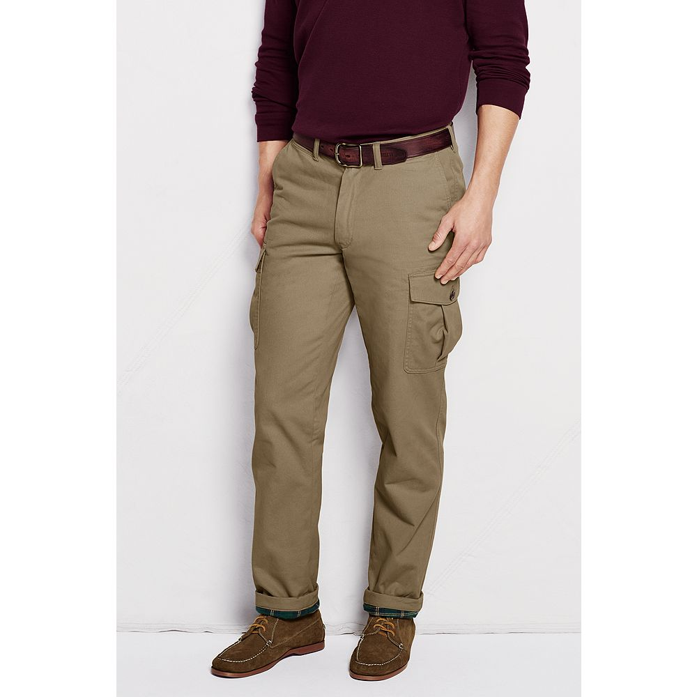 Lands' End Men's Regular Flannel Lined Cargo Pants at Sears.com
