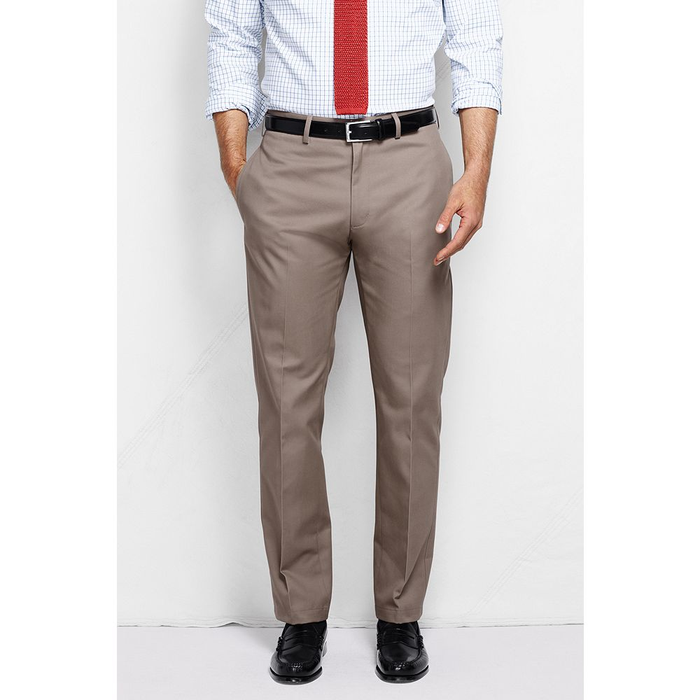 Lands' End Men's Plain Front Straight Fit No Iron Chino Pants at Sears.com