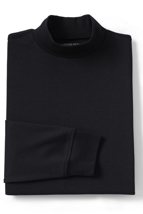 Men's Tall Supima Interlock Mock Turtleneck