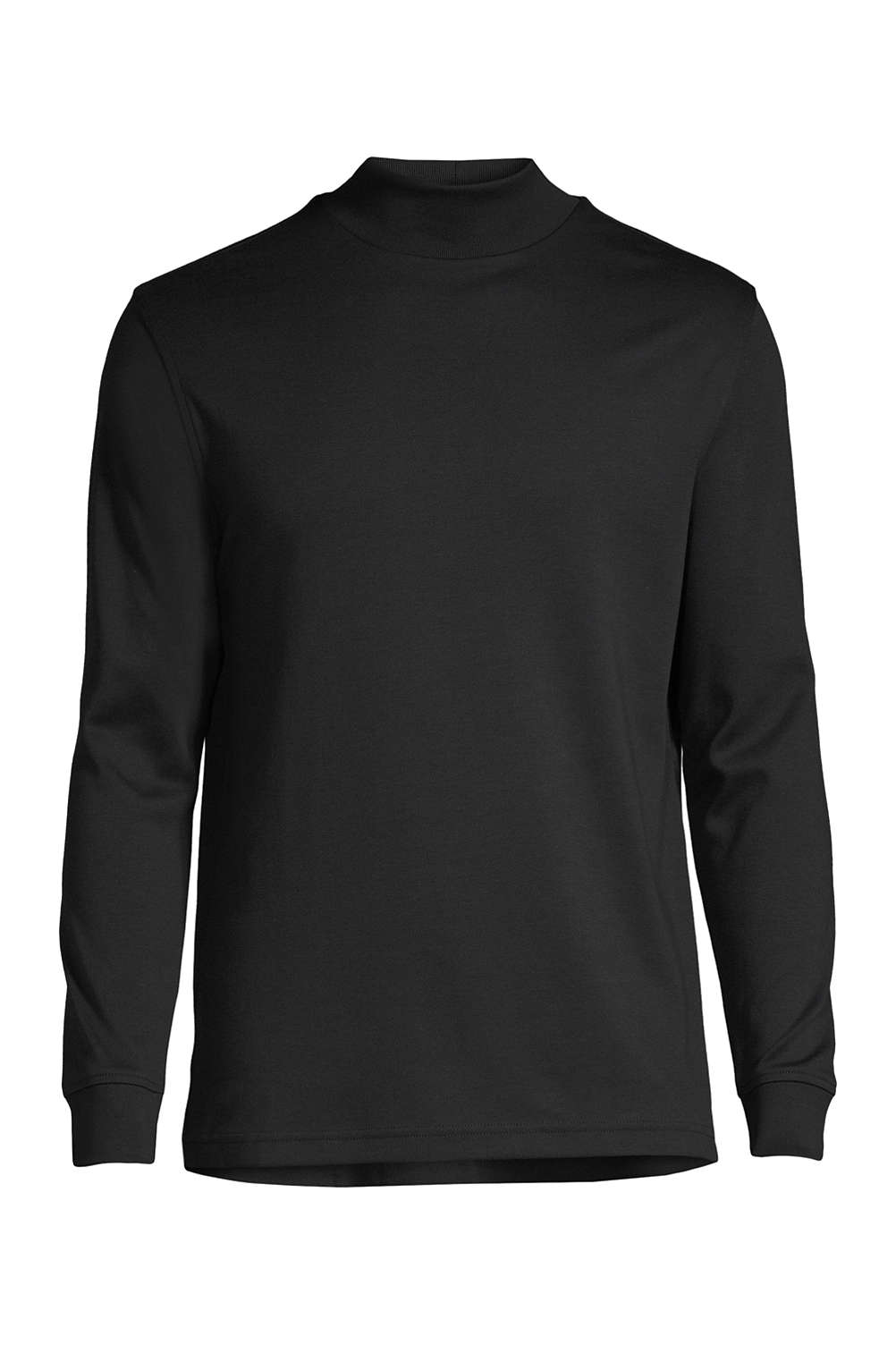 f1a6e49202 Men s Supima Interlock Mock Turtleneck from Lands  End