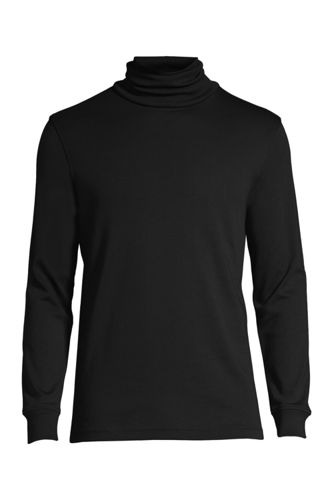 Men's Supima Interlock Turtleneck by Lands' End
