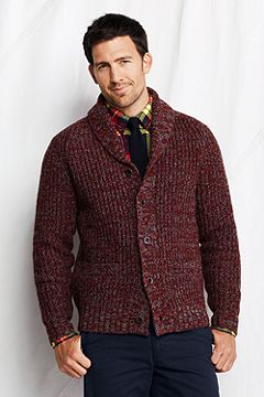 Lambswool Shaker Shawl Collar Cardigan 437009
