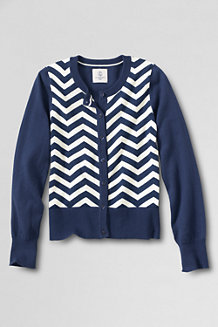 Girls' LS Patterned Sophie Cardigan