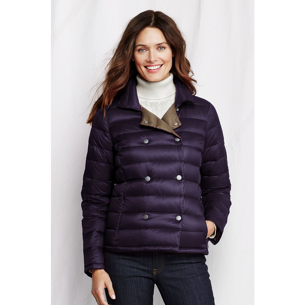Lands' End Women's Petite Lightweight Down Pea Coat at Sears.com