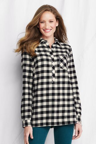 Women's Plus Flannel Tunic