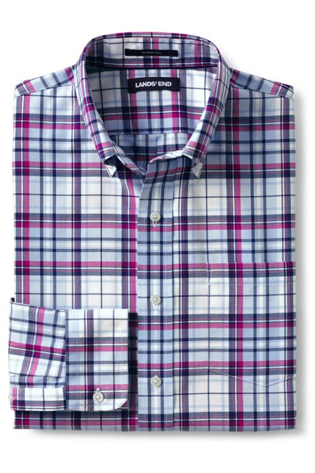 Men's Tall Traditional Fit No Iron Twill Shirt