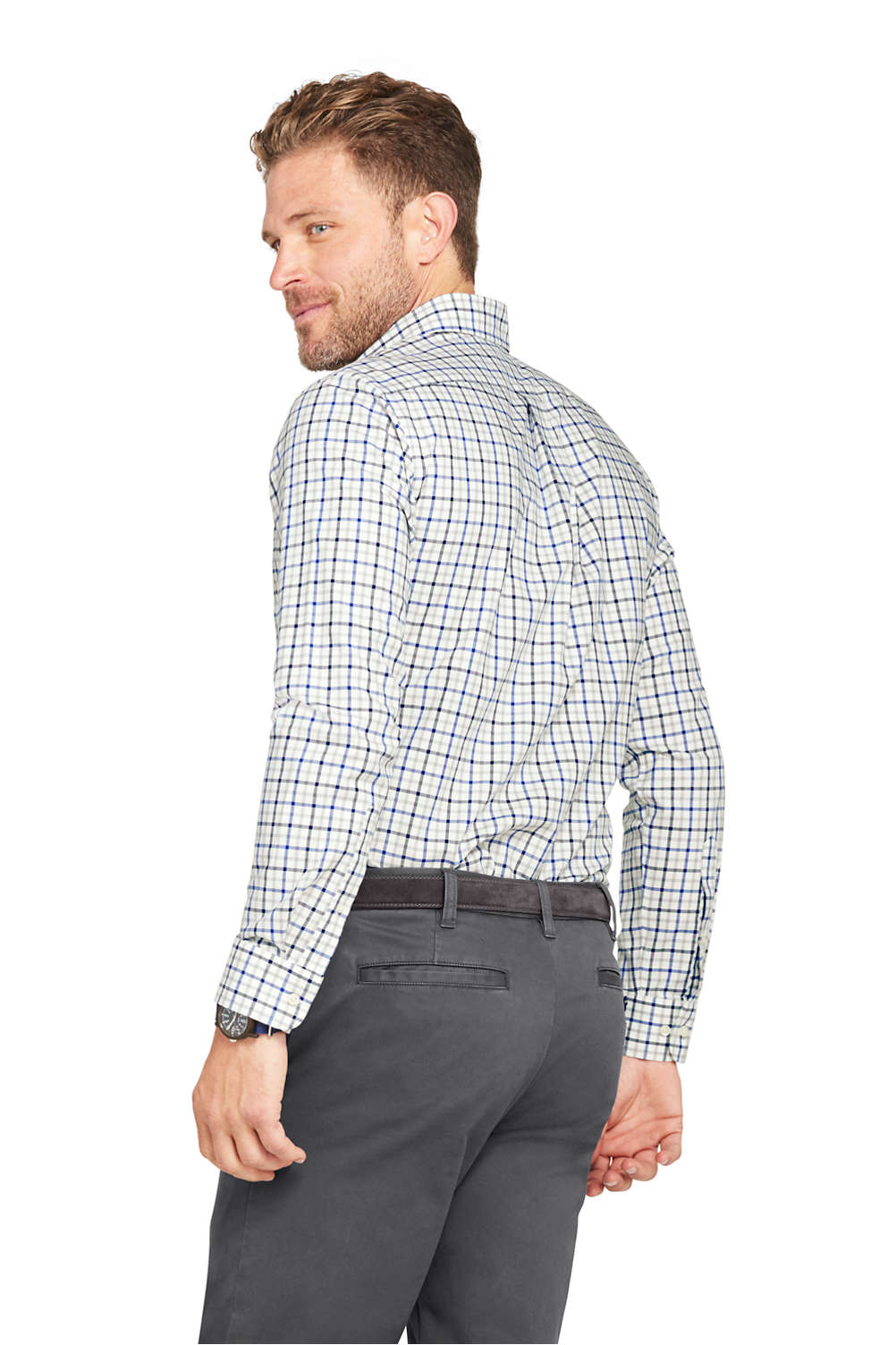 Mens No Iron Twill Shirt From Lands End