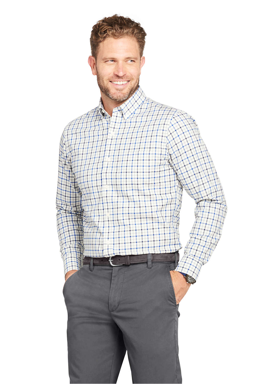 Men\'s No Iron Twill Shirt