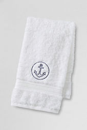 Supima Embroidered Anchor Hand & Bath Towels