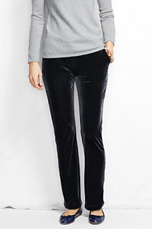 Women's Stretch Knit Velvet Trousers