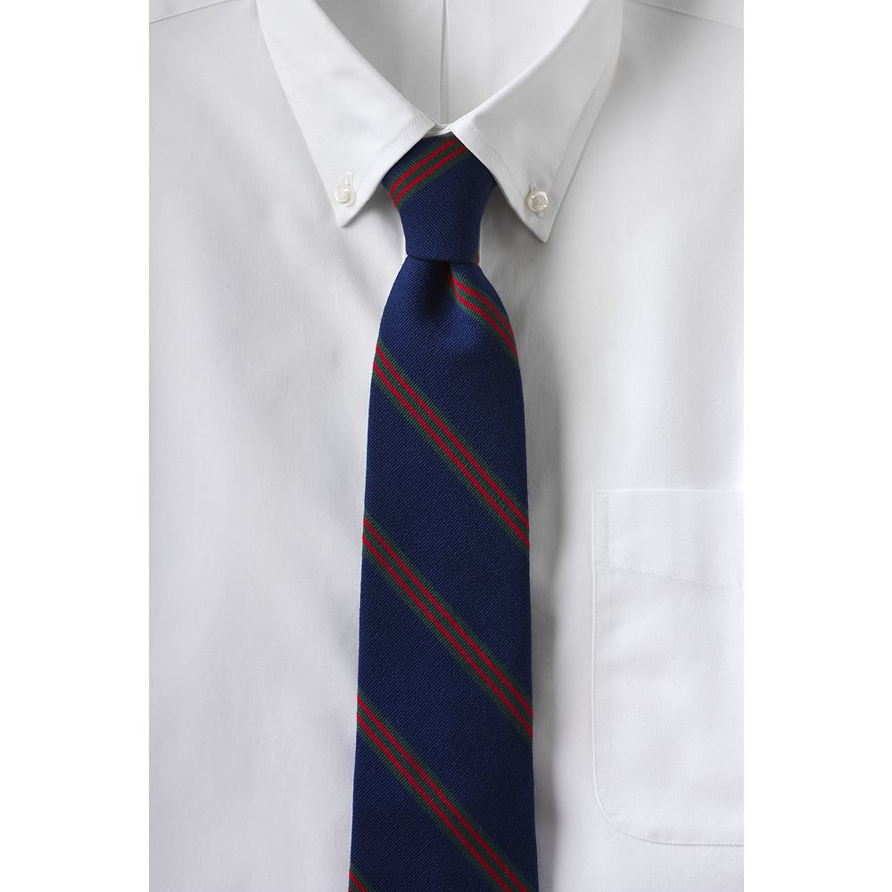 Lands' End Men's Regular Holiday Silk Wool Triple Stripe Necktie at Sears.com