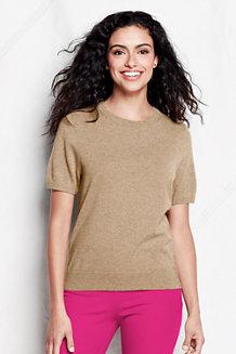 Women's Short Sleeve Cashmere Jumper