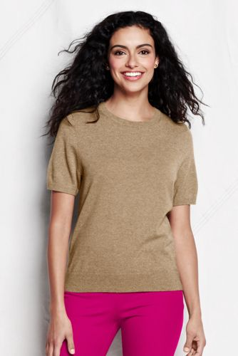 Women's Regular Short Sleeve Cashmere Jumper