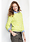 Women's Petite Three-Quarter Sleeve Marl Boat Neck Drifter