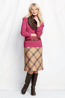 Women's Textured Wool Skirt