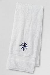 Supima Embroidered Compass Hand & Bath Towels