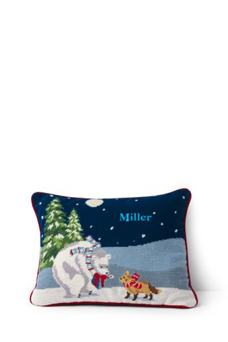 Needlepoint Decorative Festive Cushion