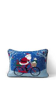 Needlepoint Decorative Christmas Pillow