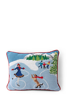 Needlepoint Train Decorative Cushion