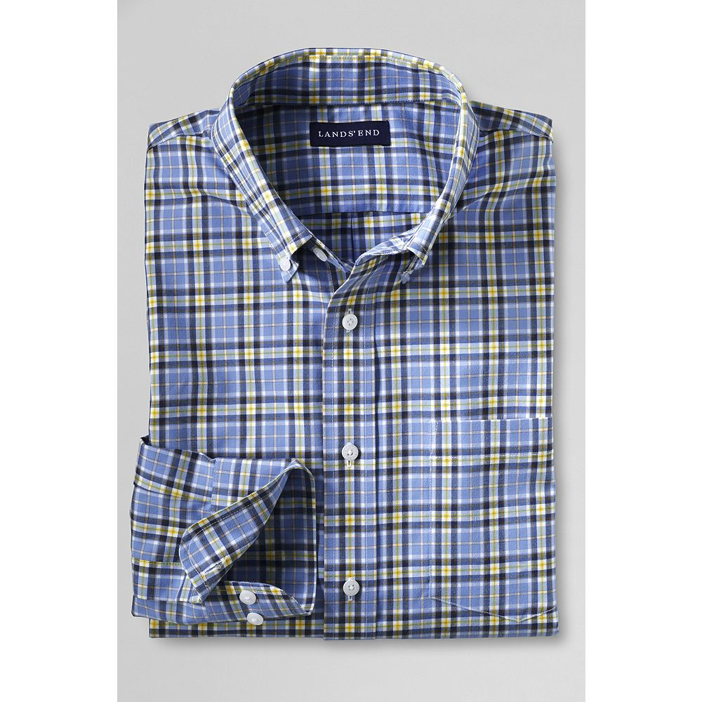 Lands' End Men's Tailored Fit No Iron Twill Shirt at Sears.com