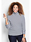 Women's Plus Fitted Cotton/Modal Striped Roll Neck