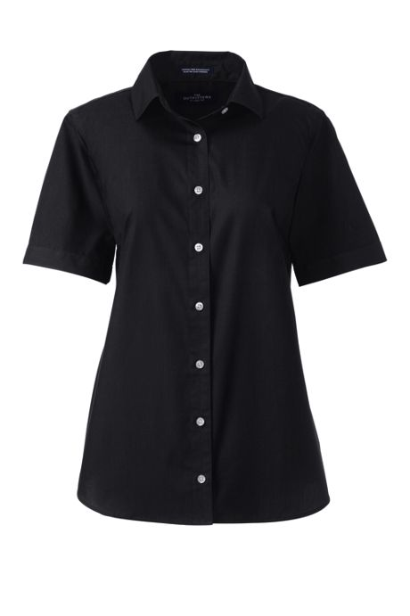 School Uniform Women's Short Sleeve Broadcloth Shirt